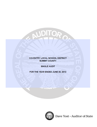 Fiscal Year Ending 6-30-13 Audit