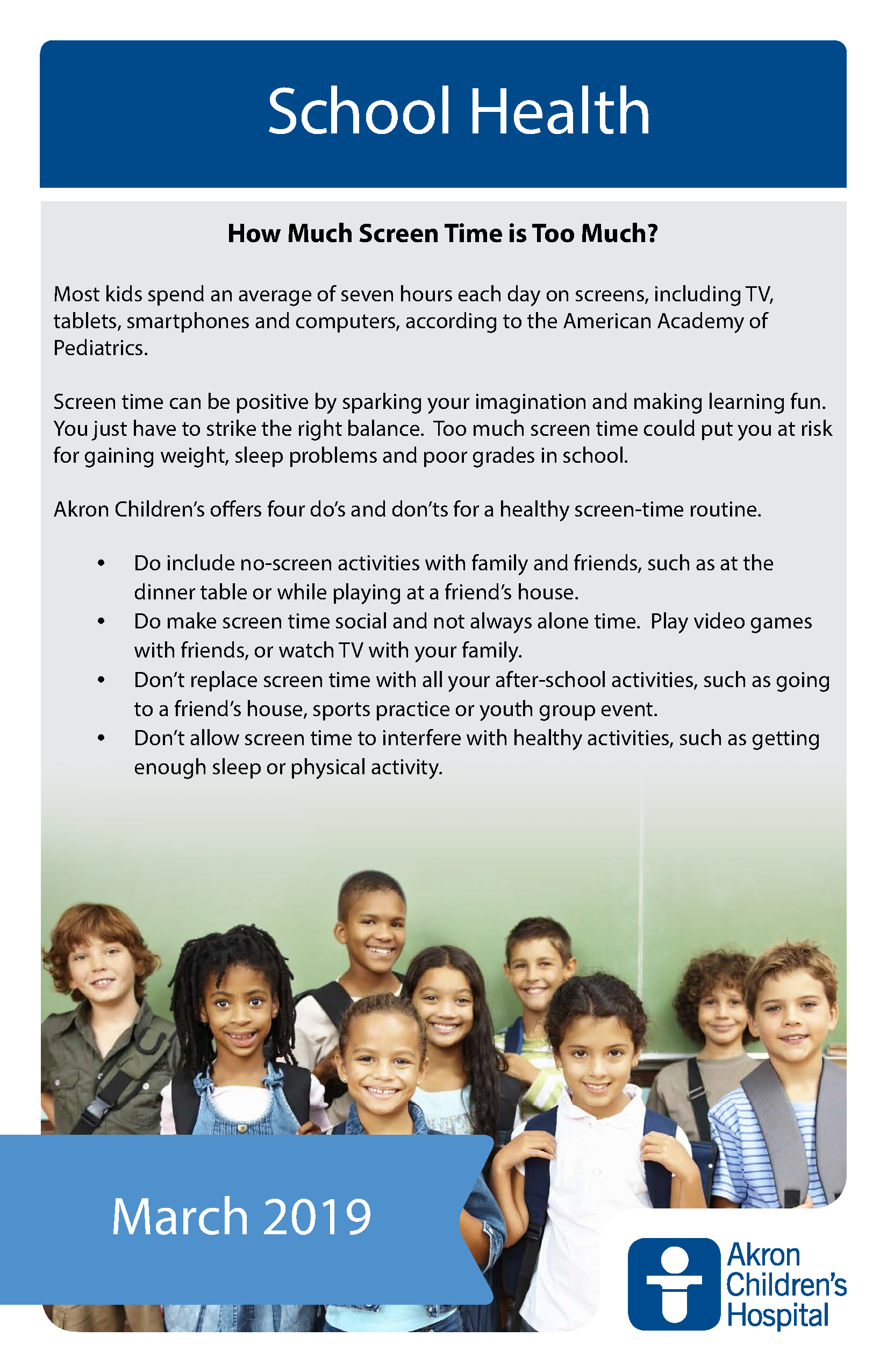 Media Guidelines For Kids Of All Ages >> Coventry Local Schools News Article